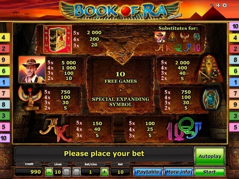 start online casino book of ra spielautomat